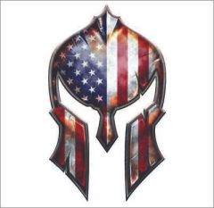 USA Molon Labe Spartan Helmet Decal Gun Rights Sticker 2nd Amendment Military