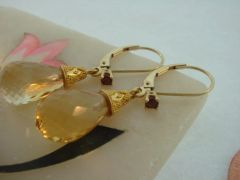 Citrine Briolette Drop Earrings