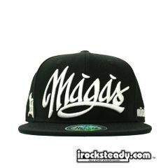 MAGAS (SIGNATURE LOGO BLACK with WHITE) Youth Snapback