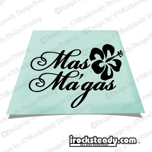 MAS MAGAS HIBISCUS DECAL