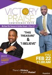 "Victory In Praise Conference 2018 DVD, Bishop Fredderick Hardy, - ""This Treasure & I Believe"""