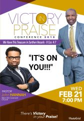 "Victory In Praise Conference 2018 DVD, Pastor John Hannah, - ""It's On You"""
