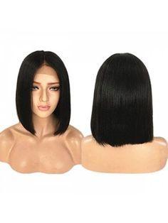 Middle Part Closure Shoulder Bob Wig Hair Loss