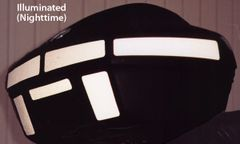 RK-4 BMW Motorcycle Reflective Kit: -- -- Fits the 33-liter topcase/trunk of the R1100/1150RT and 1100/1150RS