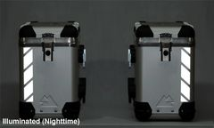 "RK-540B: Black Reflective ""Stripe"" Kit fits Touratech Zega Pro Silver Bags and Black Bags."