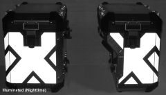RK-42B BMW Motorcycle Reflective Kit: -- -- Fits the rear and corners of the (2014+) BMW GSW Adventure Saddlebags