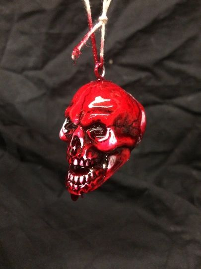 Bloody Skull Ornament