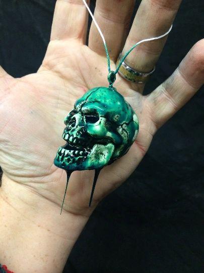 Toxic Skull Ornament