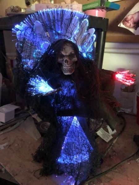 Tree Topper Grim Reaper Fiber Optic