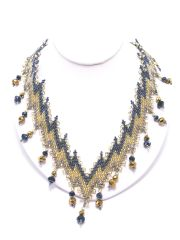 Gold Blue Necklace