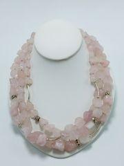 Chunk Rose Quartz Necklace