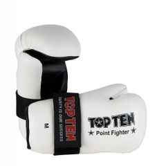 TOP TEN Point Fighter Gloves White