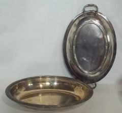 Antique Ellis Barker Covered Entrée or Vegetable Serving Dish