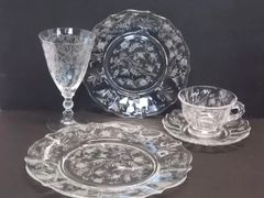 Fostoria Glass Chintz Baroque – 5 pc place setting