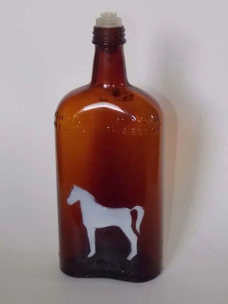 White Horse Distillery Glasgow Scotland Embossed Brown