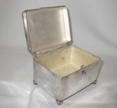 RARE Antique Silverplate Lidded Sugar Tea casket box Etrog NORBLIN & Co., WARSZAWA – Circa 1870s
