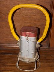 Vintage JUSTRITE Railroad AT&SFE Light Lantern