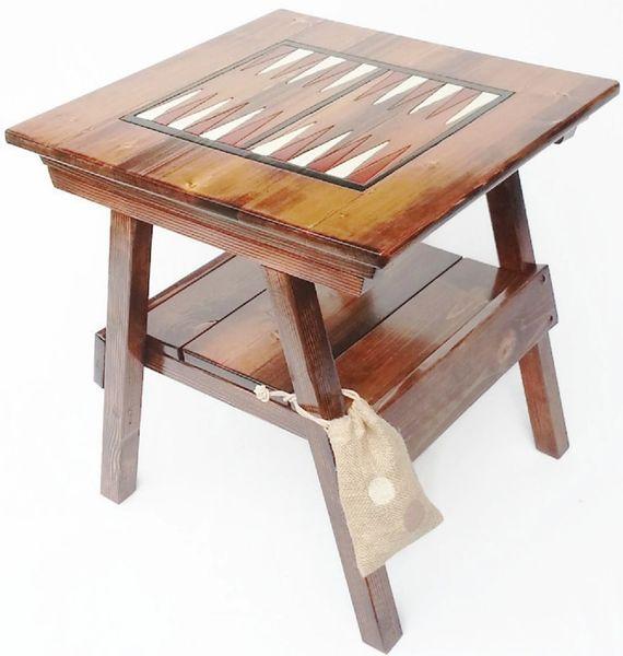 Backgammon Game Board Wood Table Outdoor Patio Garden