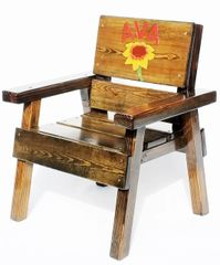 Kids Outdoor Furniture Personalized Wood Chair