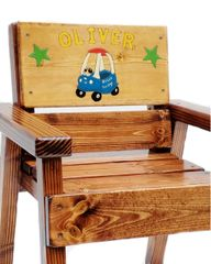 Toddlers Wood Chair Personalized, Indoor / Outdoor Furniture For Kids