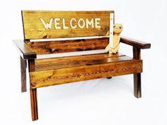 Welcome Garden Bench For Kids Toddler+ Boy or Girl Furniture