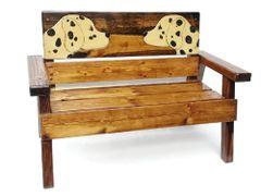 Happy Kids Wood Bench Dog - Dalmatian Design