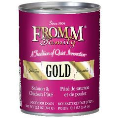 FROMM GOLD DOG CAN SALMON & CHICKEN PATE' 12/12.2oz.