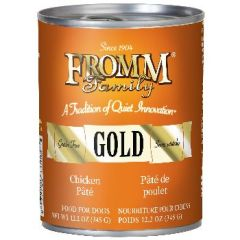 FROMM GOLD DOG CAN CHICKEN PATE' 12/12.2oz.