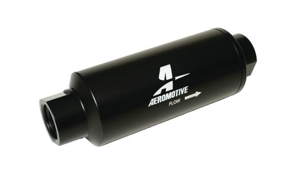 new product bdccc d9d99 Aeromotive 12309 - Fuel Filter, Inline Mount, Black, 100 Microns, -12 AN  Female Inlet, Outlet