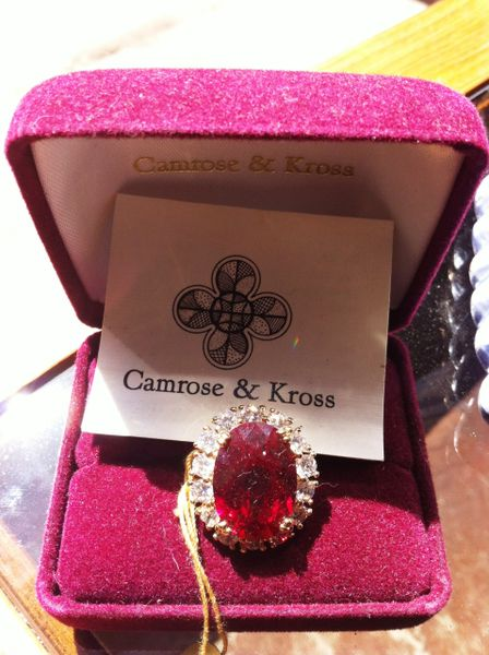 Camrose & Kross 18K Gold Filled Ring from the Jackie Kennedy Collection
