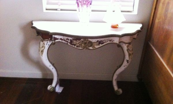 Antique Rose Carved Side / Console Table