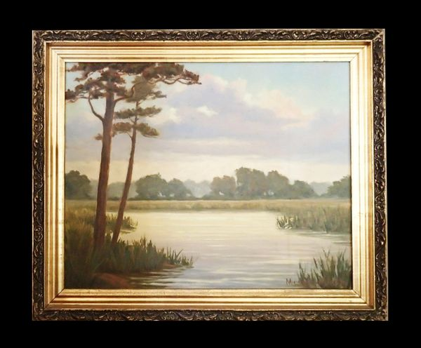 Framed Landscape oil on Canvas Mildred Martin Smith