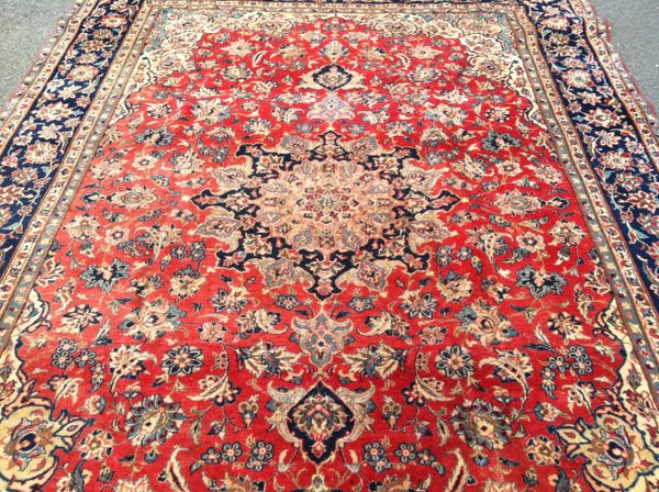 Iranian Persian Style Hand Knotted Rug, All Wool, Large Size