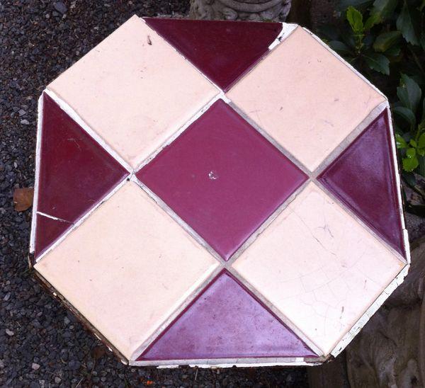 Wrought Iron Tile Top Garden Table