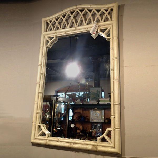 Hollywood Regency Faux Bamboo Mirror