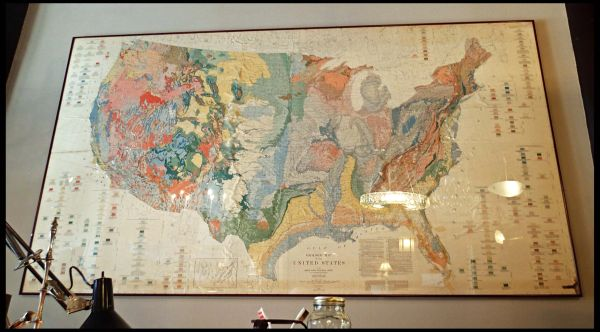 Framed Map of The United States
