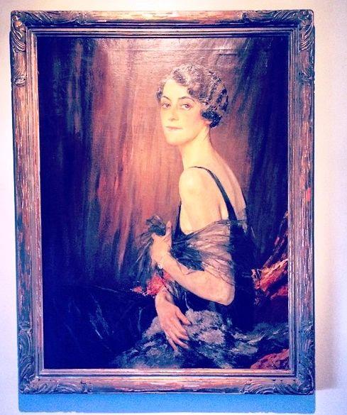 Framed Portrait of Theodora Faber Baker Signed by Edward Cucuel