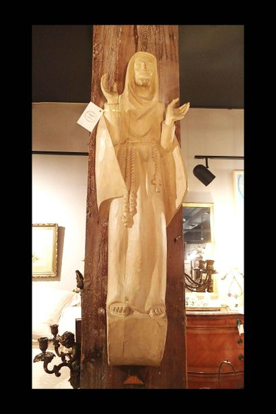 Handcarved Statue of St. Francis