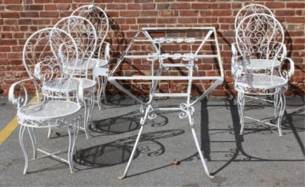 Vintage Iron Dining Set