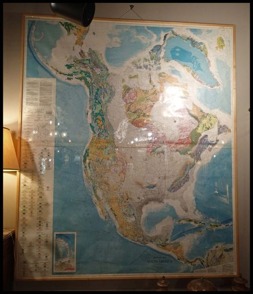 Framed Map of North America, Very Large