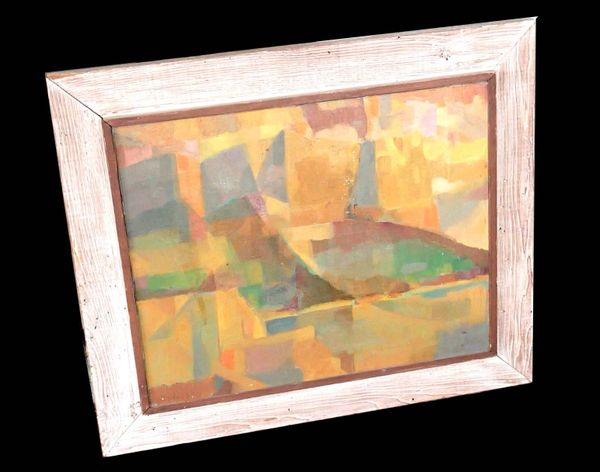 Framed Abstract Oil On Canvas by John Day 1940's
