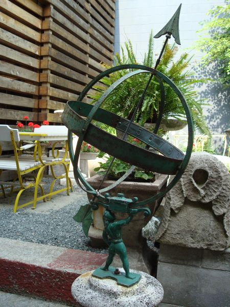 Early Cast Astrolabe on Pedestal for Garden