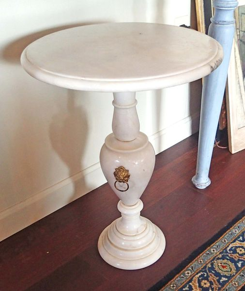 Urn Form Marble Pedestal Table