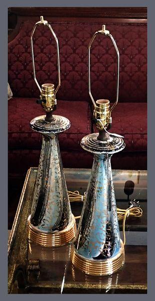 1950's Pair of Ceramic Lamps