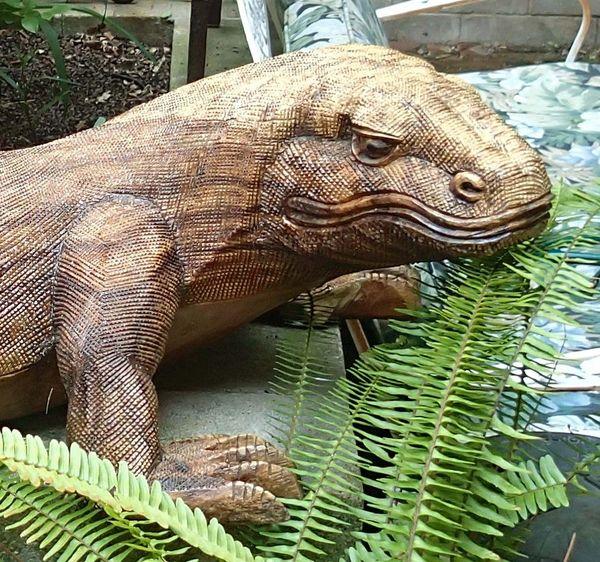 Large Carved Wooden Komodo Dragon