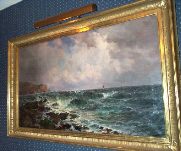 Framed Seascape by British Artist John Falconar Slater