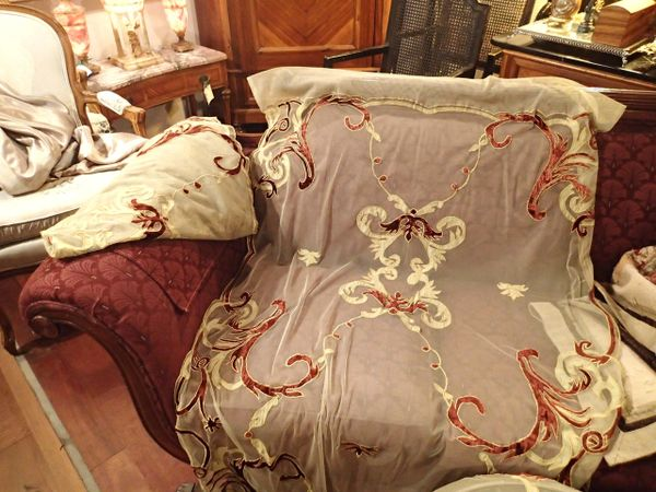 Pair of Victorian Window Sheers Curtains