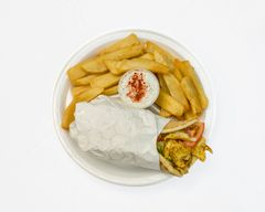 CHICKEN SHAWARMAS,WITH FRIES