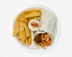 GYRO SANDWICH,WITH FRIES.