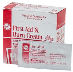 FIRST AID & BURN CREAM, 0.9GM, 25/BOX